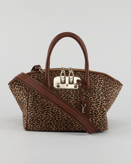 Brera Leopard-Print Satchel Bag