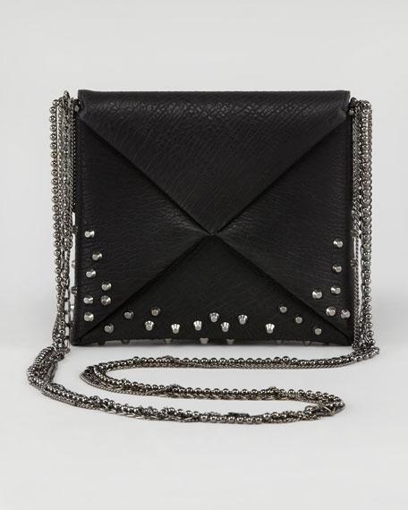 Origami Studded Square Crossbody Bag