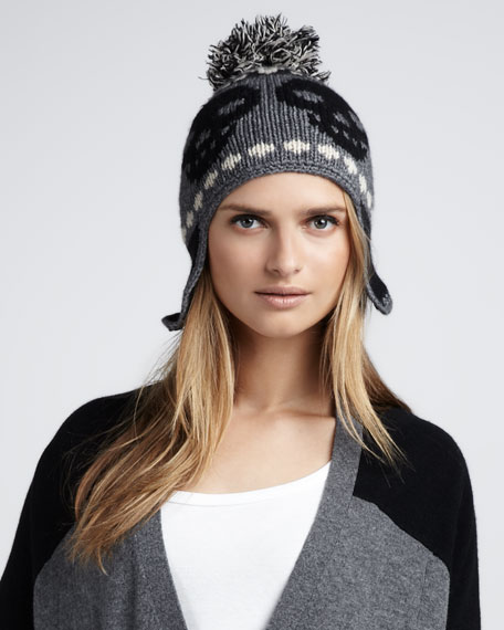 Cashmere Skull Pom Hat