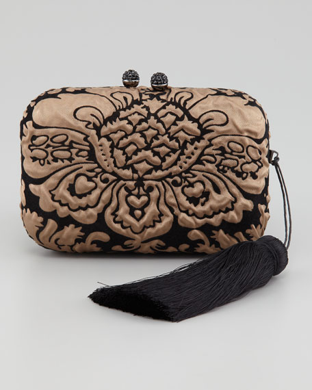 Margo Flocked Silk Minaudiere