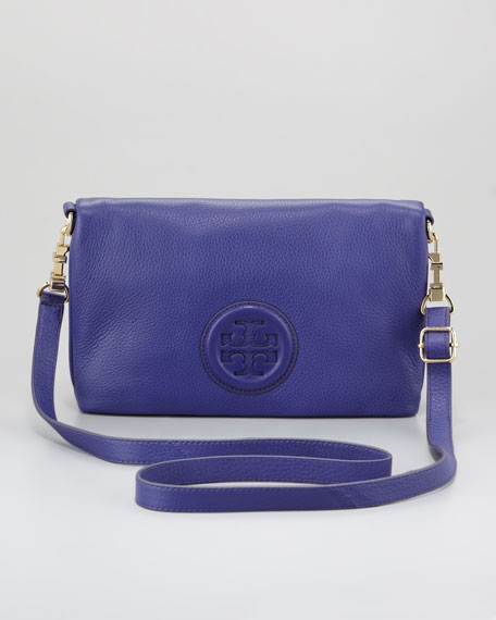 Hannah Fold-Over Clutch Bag, Iris