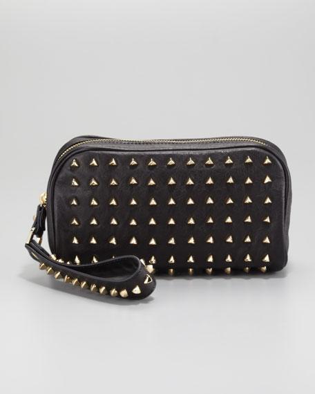 Pyramid Stud Clutch Bag, Black