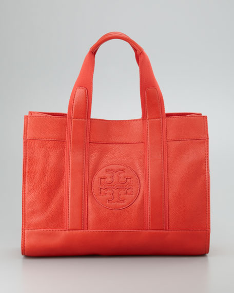 Classic Tory Tote Bag, Flame Red