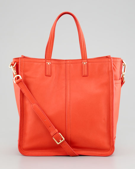 Violet Small Tote Bag, Flame Red