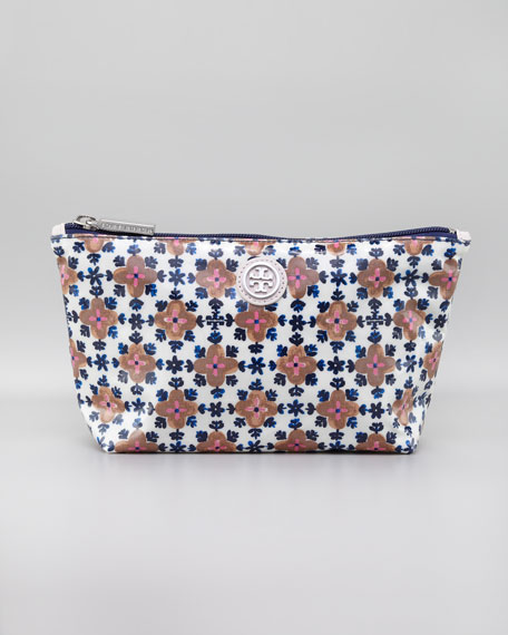 Floral-Printed Cosmetic Case