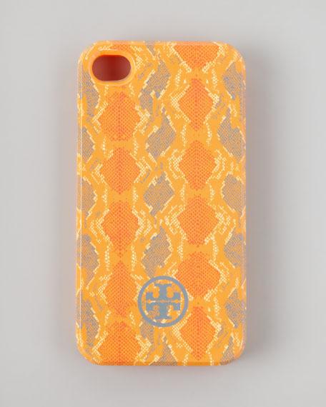 Pop Snake-Print Soft iPhone 4 Case, Orangina
