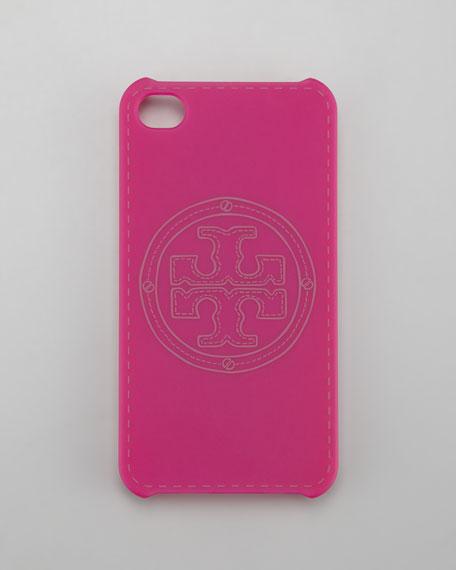 Stacked Logo iPhone 4 Case, Party Fuchsia