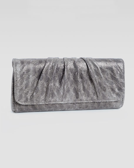 Caroline Etched-Metallic Clutch Bag