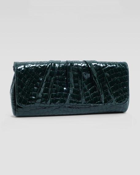 Caroline Shadow-Patent Clutch Bag