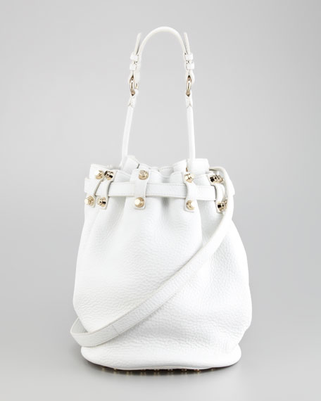 Diego Bucket Bag, Peroxide/Yellow Golden