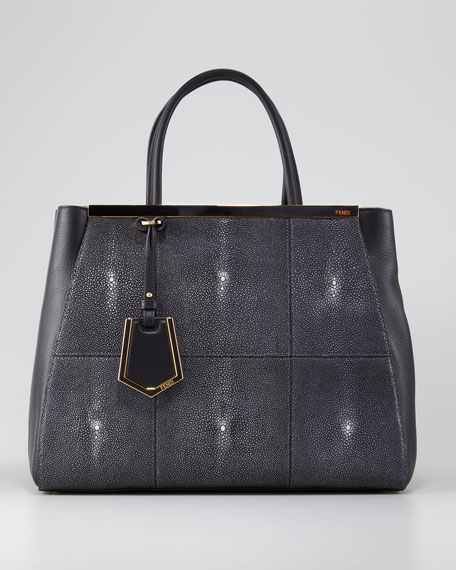 2Jours Stingray-Calfskin Shopper