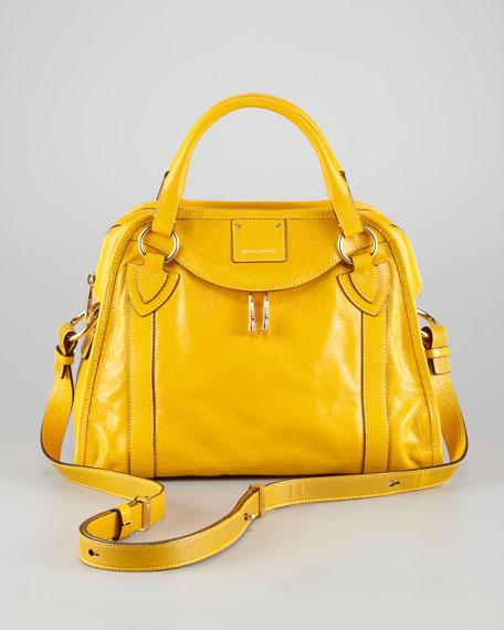 Classic Wellington Satchel Bag,  Yellow