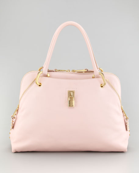 Rio Satchel Bag, Pale Pink