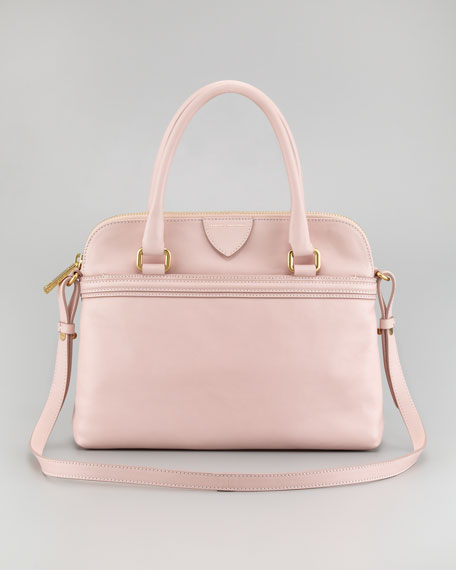 Preston Convertible Handbag, Pale Pink