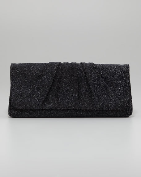 Caroline Crystallized Clutch Bag, Black