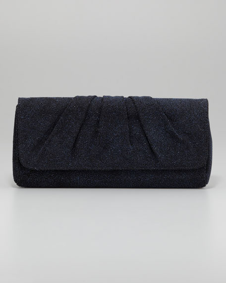 Caroline Crystallized Clutch Bag, Cobalt