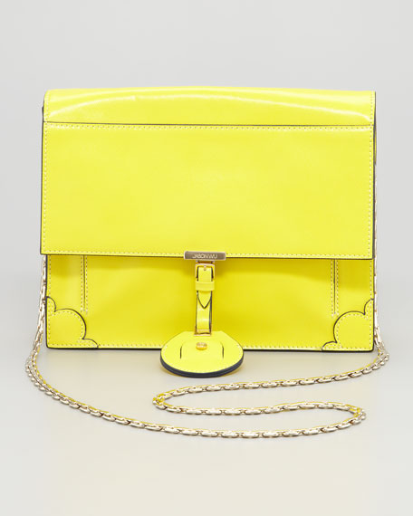 Jourdan Chain Crossbody Bag, Yellow