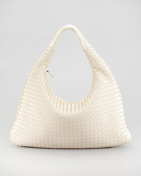 Veneta Woven Hobo Bag, Large