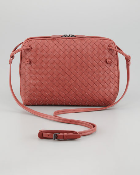 Veneta Small Crossbody Bag, Coral