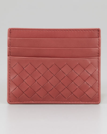 Woven Card Case, Coral