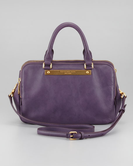 Goodbye Columbus Sylvie Shoulder Bag, Purple Shadow
