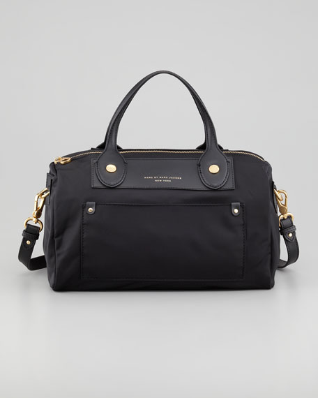 Preppy Nylon Taryn Satchel, Black