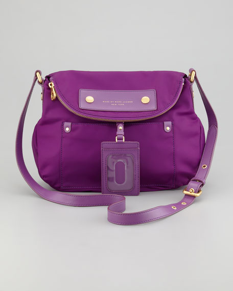 Preppy Nylon Natasha Crossbody Bag, Violet