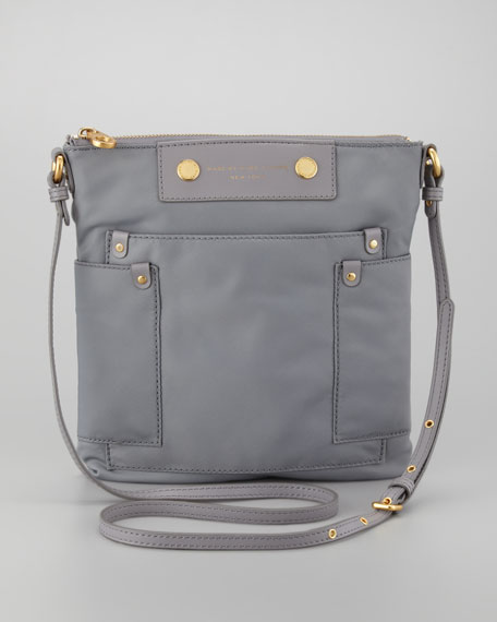 Preppy Nylon Sia Crossbody Bag, Storm Cloud