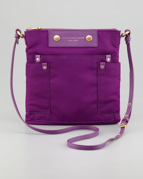Preppy Nylon Sia Crossbody Bag, Violet
