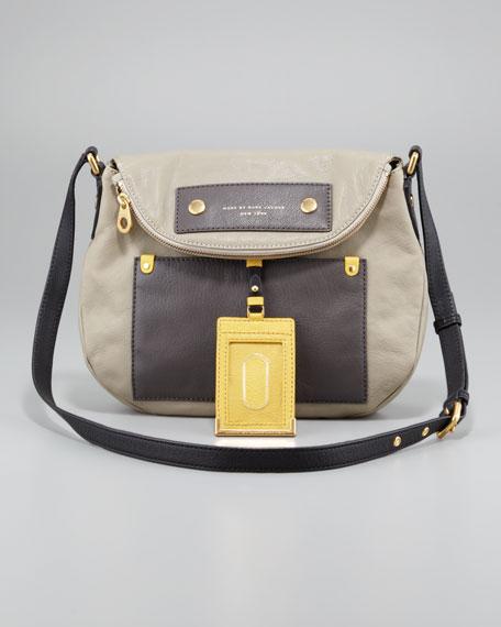 Classic Q Natasha Colorblock Crossbody Bag, Silver Fox