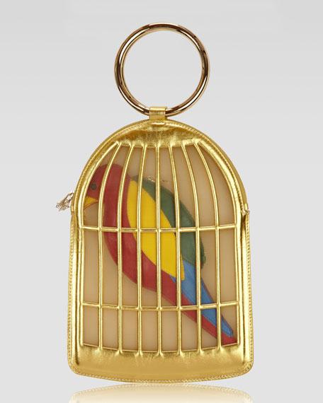 Tweetie Parrot Pouch & Birdcage Clutch Set