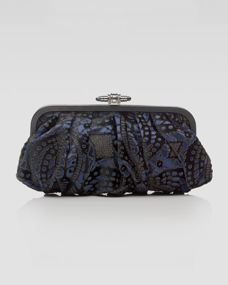 Jolson Laser-Cut Pouchette Clutch Bag