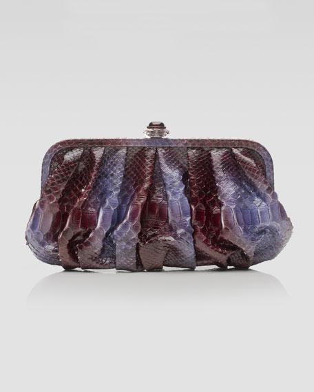 Jolson Ombre Python Pouchette Clutch Bag