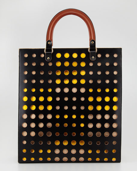 Dot North-South Tote Bag