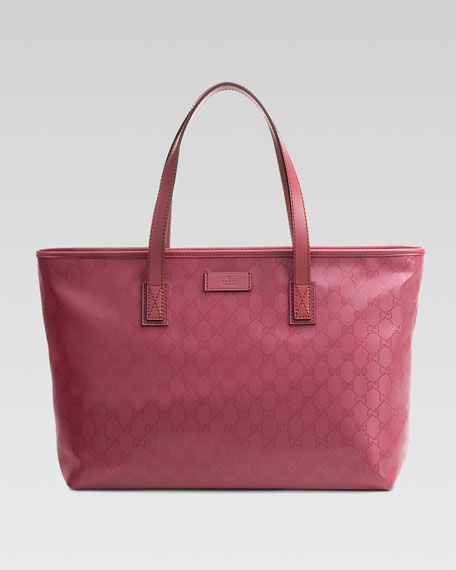GG Medium Imprimee Tote Bag, Vintage Rose