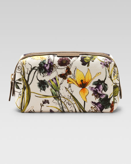 Infinity Floral Canvas Cosmetic Case