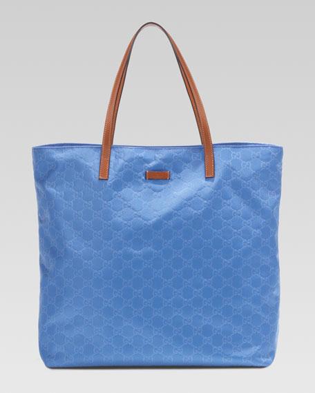Nylon Guccissima Tote Bag, Periwinkle