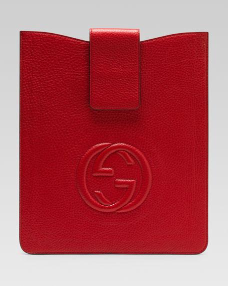 Soho Leather iPad Case, Red