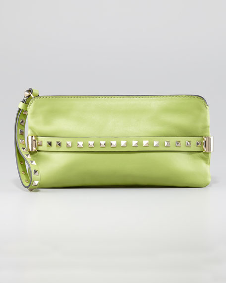 Rockstud Wristlet Clutch Bag, Pop Apple
