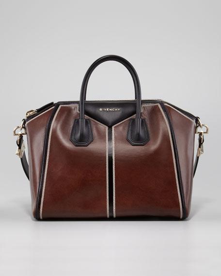 Antigona Colorblock Medium Satchel Bag, Brun