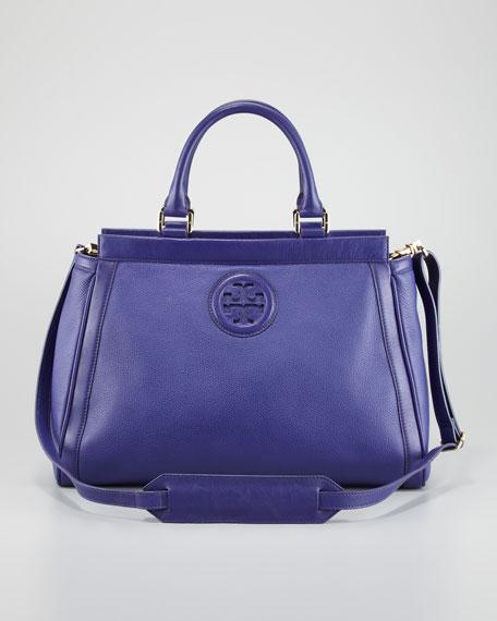 Hannah East-West Satchel Bag, Iris