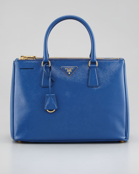 Saffiano Executive Small Tote Bag, Azzurro