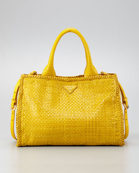 Madras Small Tote Bag, Soleil