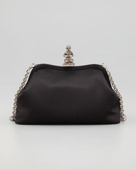 35627c7b8bdd Prada Monkey Satin Shoulder Bag, Black