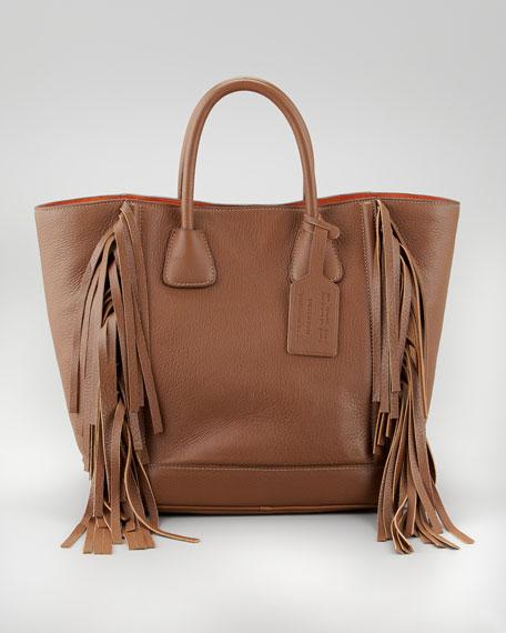 ccc882f6df9b ... shop prada cervo fringe tote bag cammello 46a92 d6c91