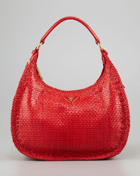 Madras Small Hobo Bag, Lacca