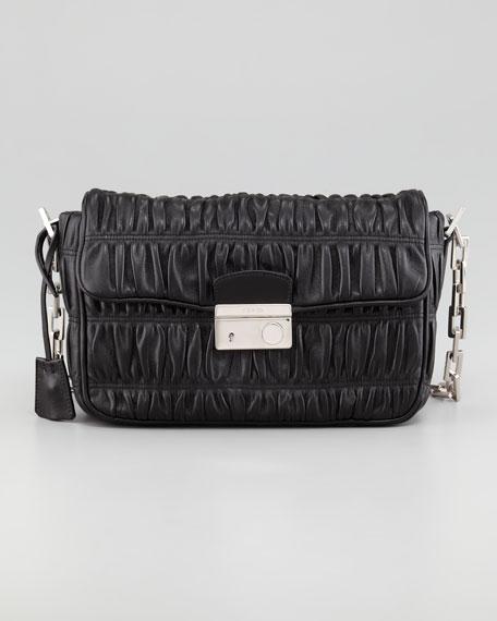 4b2f264853ab Prada Napa Gaufre Chain Shoulder Bag, Nero