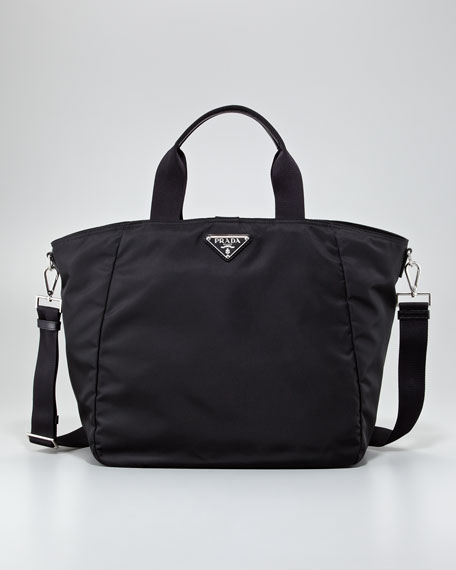 Vela Zip-Top Tote, Black (Nero)