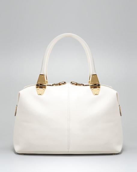 Natasha Ivory Calfskin Satchel Bag