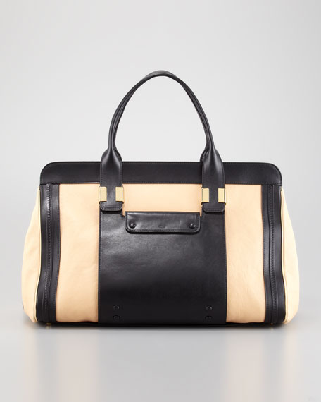 Alice Large Satchel Bag, Stem Ginger